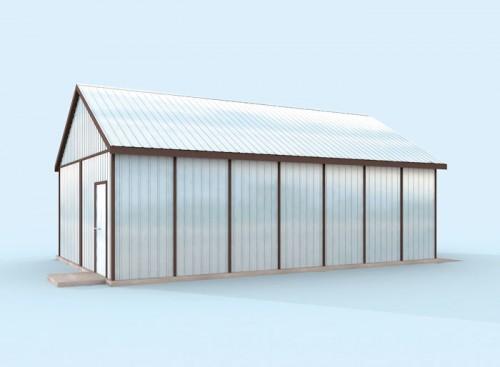 Projekty Domów Drewnianych Pl Garaż Blaszany Gb24