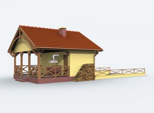 Projekty Domów Drewnianych Pl Projekt Garażu G69