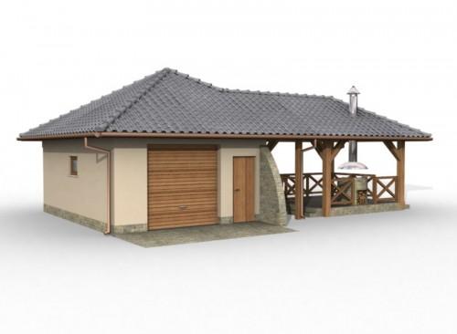 Projekty Domów Drewnianych Pl Projekt Garażu Z Pom Gospodarczym I
