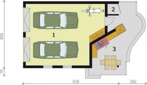 Projekty Domów Drewnianych Pl Projekt Garażu Dwustanowiskowego Z